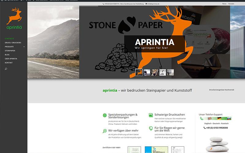 Aprintia jetzt im WWW