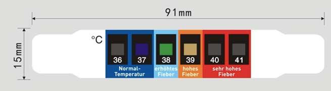Fieberfolienthermometer